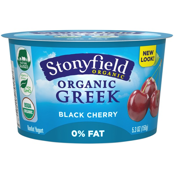 Stonyfield Organic Organic Black Cherry Nonfat Greek Yogurt