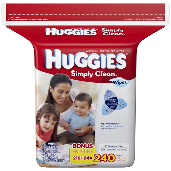 Huggies Simply Clean Refill Baby Wipes