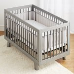 BreathableBaby® Classic Breathable® Mesh Crib Liner- Gray