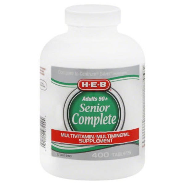 H-E-B Complete Senior Adults 50+ Multivitamin