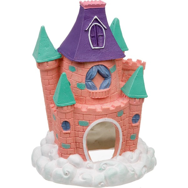 Blue Ribbon Pet Products Pink Pixie Castle Aquarium Ornament
