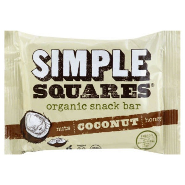 SIMPLE Squares Organic Nutrition Bar Coconut