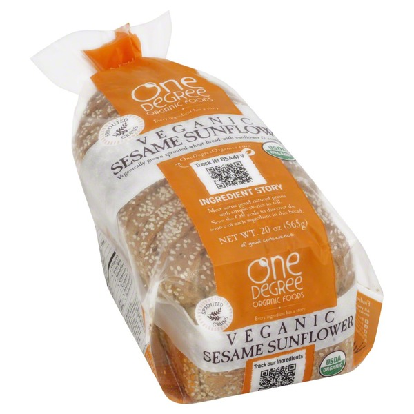One Degree Organics Bread, Veganic, Sesame Sunflower