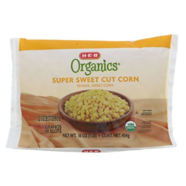 H-E-B Organics. Steamable Super Sweet Cut Corn