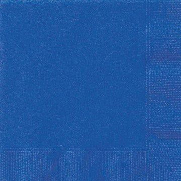 Unique Royal Blue Beverage Napkins