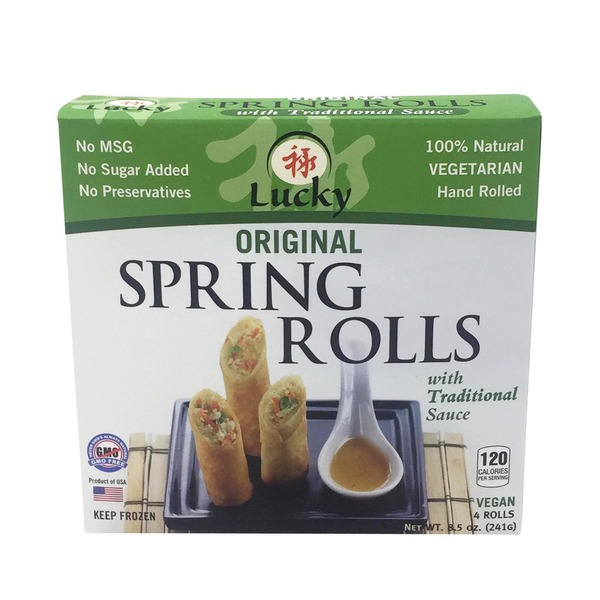 Lucky Spring Rolls With Traditional Sauce Original From Kroger