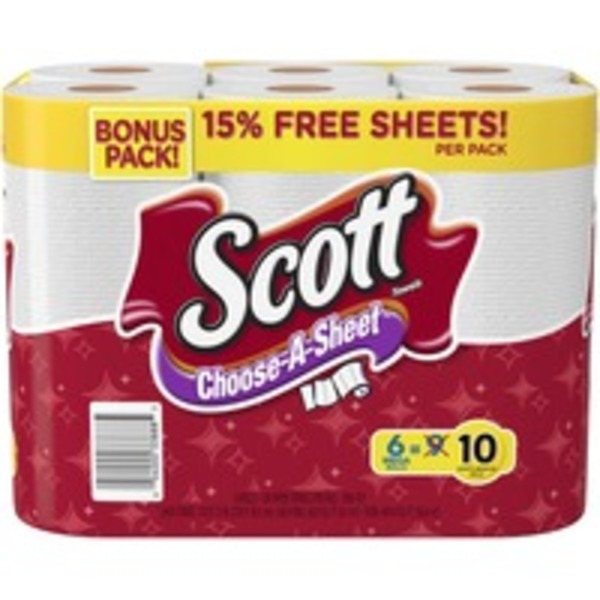 Scott Choose-A-Sheet Mega Roll White Paper Towels