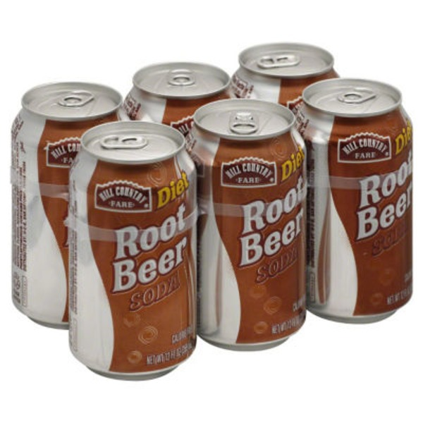 Hill Country Fare Diet Root Beer Soda Cans