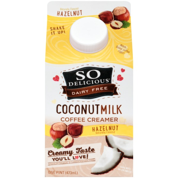 So Delicious Dairy Free Coconut Milk Hazelnut Coffee Creamer