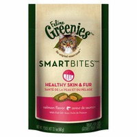 Greenies Feline Smartbites Healthy Skin & Fur Salmon Flavor Cat Treats