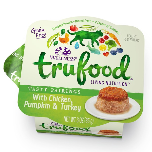 Wellness Tru Food Tasty Pairings Chicken Pumpkin & Turkey Wet Cat Food 3 Oz. Case Of 24