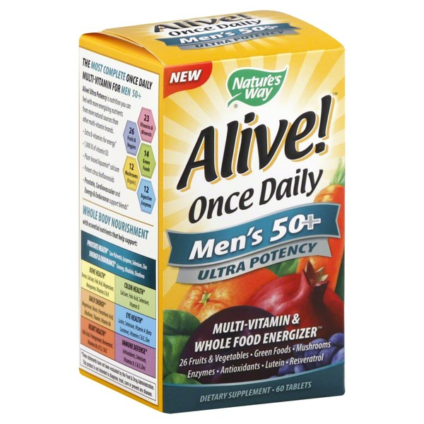 Nature's Way Alive! Once Daily Men's 50+ Ultra Potency Multivitamin