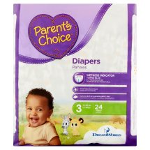 Parent's Choice Diapers, Size 3, 24 Diapers