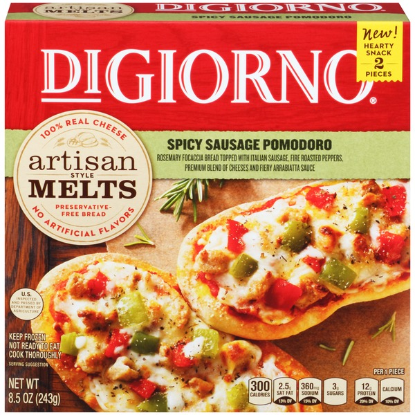 DiGiorno Artisan Style Melts Spicy Sausage Pomodoro Pizza