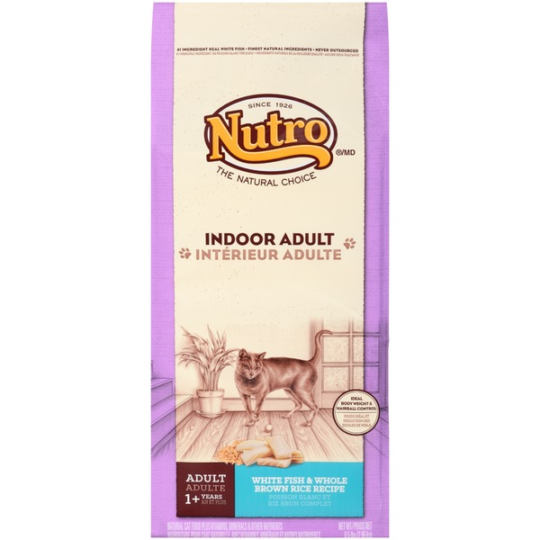 Nutro Indoor Adult White Fish & Whole Brown Rice Recipe Dry Cat Food