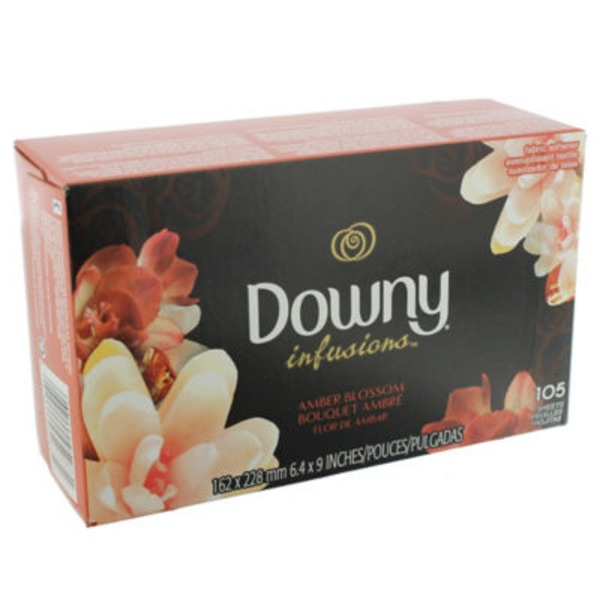 Downy Infusions Ultra Downy Infusions Amber Blossom Fabric Softener Sheets 105 count Fabric Enhancers