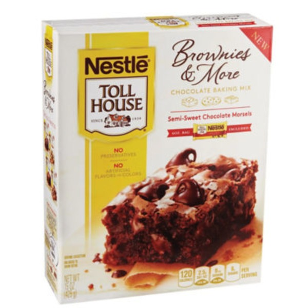 Toll House Chocolate Baking Mix with Semi-Sweet Chocolate Morsels Brownies & More