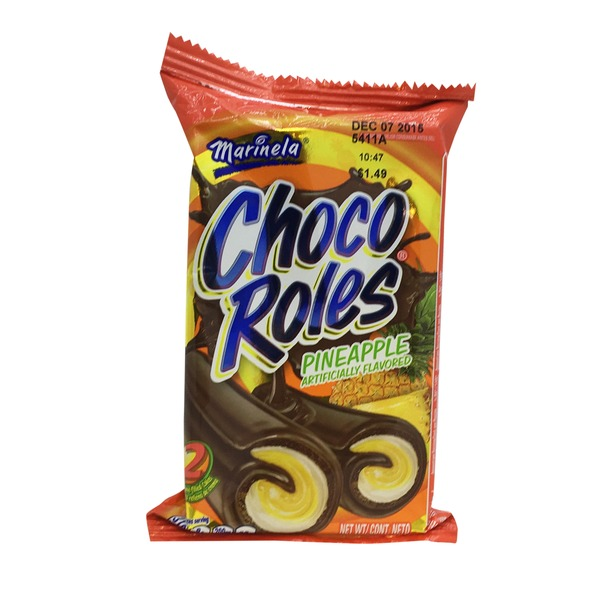 Marinela Choco Roles Pineapple