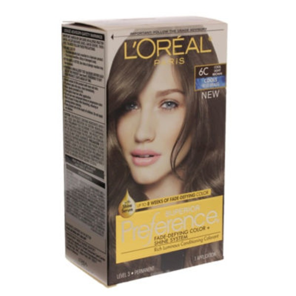 Superior Preference Cools Anti-Brass 6C Cool Light Brown Hair Color