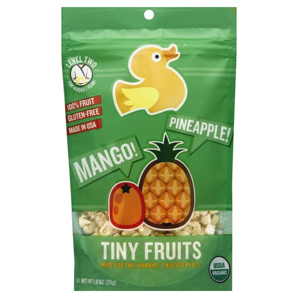 Little Duck Organics Tiny Fruits, Level Two, Mango, Pineapple