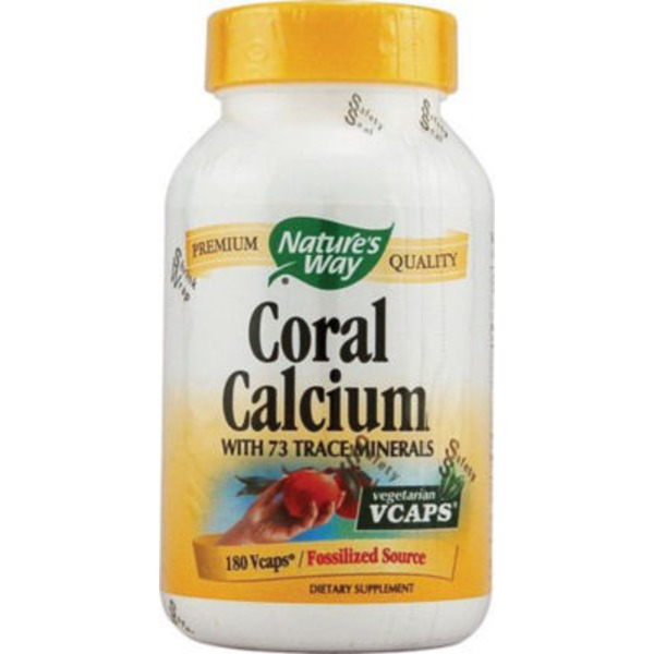 Nature's Way Coral Calcium 600 mg, Vegetarian Capsules