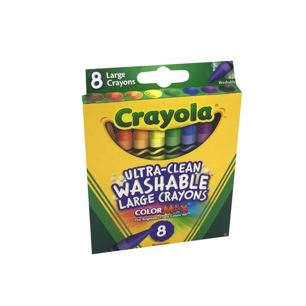 Crayola Large Washable Crayons - 8 CT