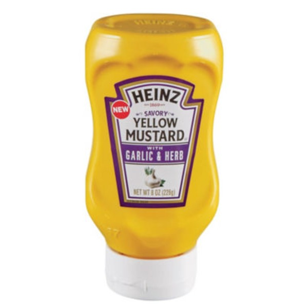 Heinz Savory Yellow Mustard with Garlic & Herb