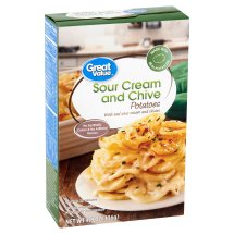 Great Value Sour Cream & Chive Instant Mashed Potatoes, 4.8 oz