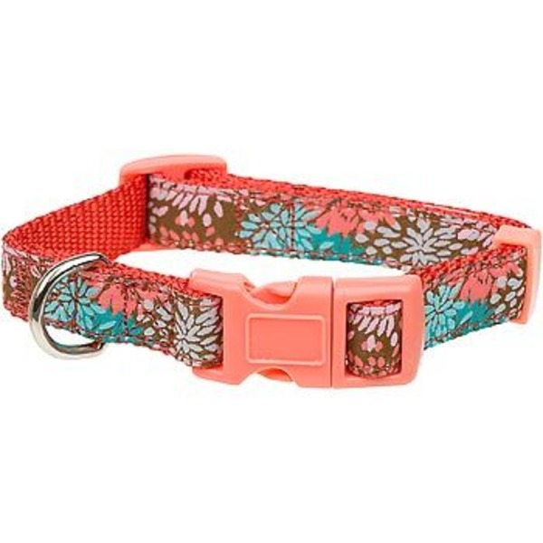 Petco Large Bloom Nylon Adjustable Dog Collar For Necks 16
