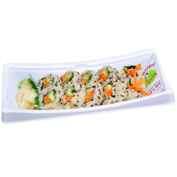 Central Market Vegetarian Roll With Brown Rice Sushi