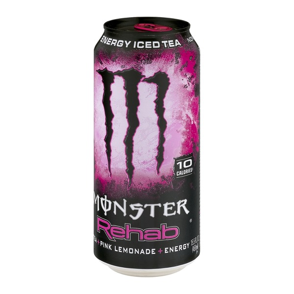 Monster Energy Drink Rehab Tea + Pink Lemonade + Energy Non Carbonated