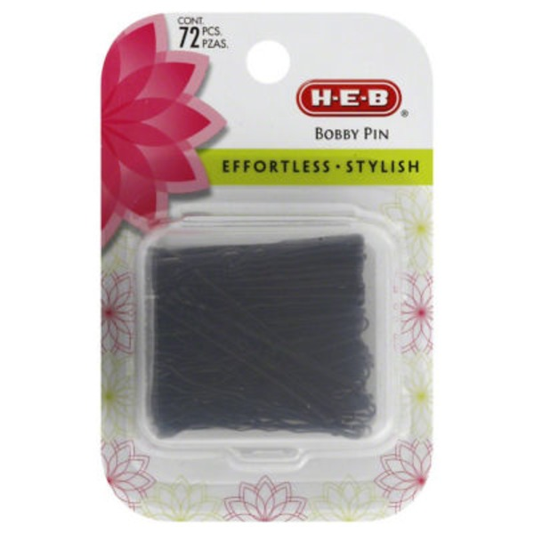 H-E-B Black Bobby Pin Case