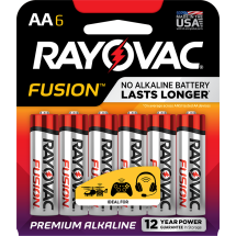 Rayovac Alkaline High Energy Batteries, AA, 6 Ct