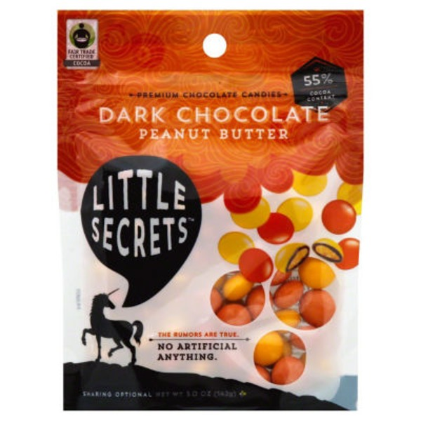 Little Secrets Premium Dark Chocolate Peanut Butter Chocolate Candies