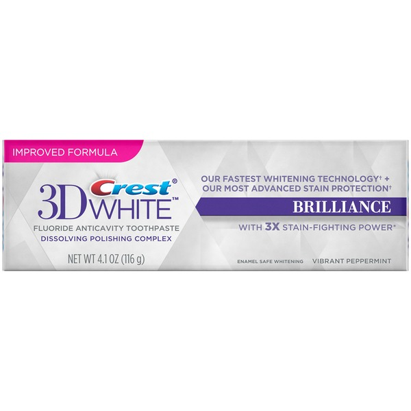 Crest 3D White Crest 3D White Brilliance Mesmerizing Mint Teeth Whitening Toothpaste 4.1 Oz  Oral Care