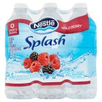 NESTLE SPLASH Water Beverages with Natural Fruit Flavors, Wild Berry 16.9-ounce plastic bottles