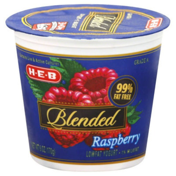 H-E-B Low Fat Blended Raspberry Yogurt