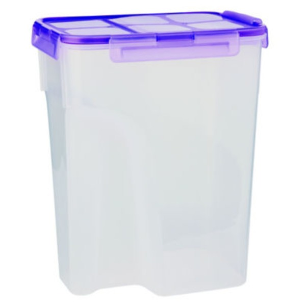 H-E-B 22.8 Cup Airtight Food Storage Container With Purple Lid