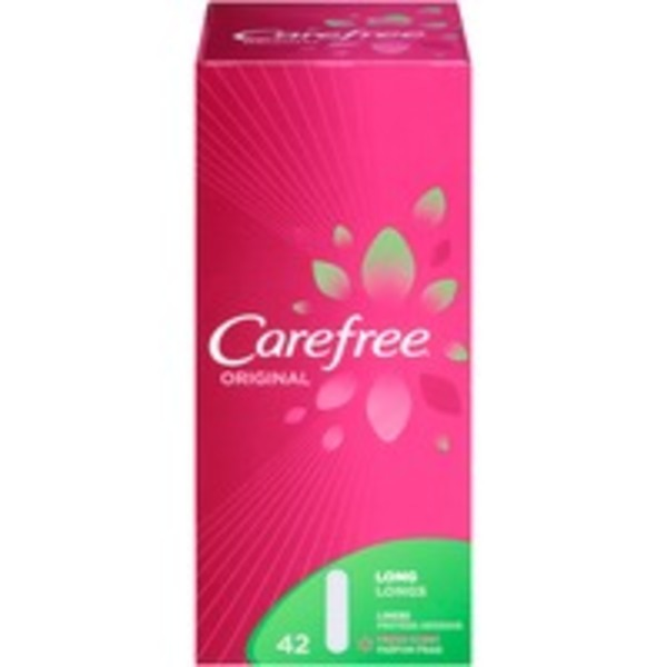 Carefree Original Long Fresh Scent Panty Liners