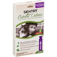 Sentry Pro Natural Defense Flea & Tick Squeeze On For Cats & Kittens