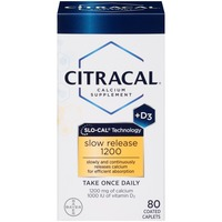 Citracal +D3 Slo-Cal Technology Coated Caplets Calcium Supplement