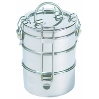 To Go Ware 1202134 3 Tier Stainless Steel Lunchbox