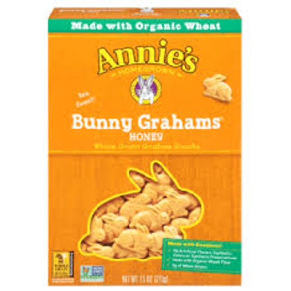 Annie's Homegrown Bunny Grahams Honey All-Natural Whole Grain Grahams Snacks