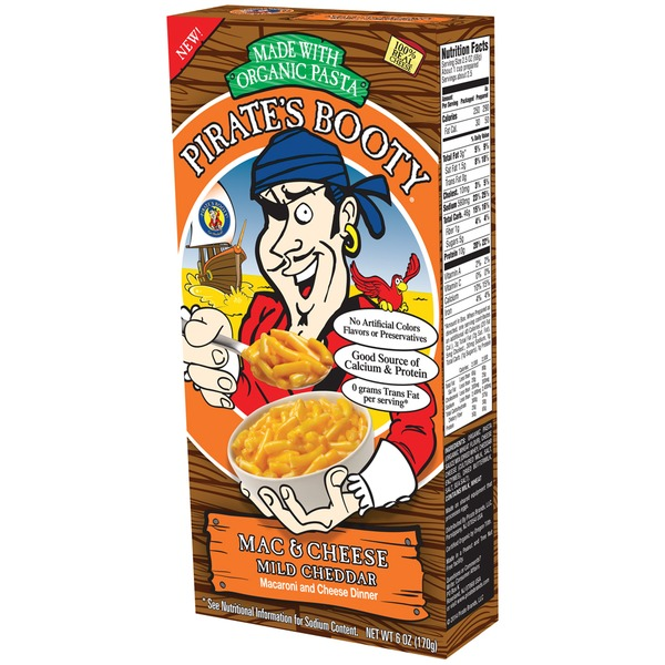 Pirate's Booty Mild Cheddar Cheese Macaroni Dinner