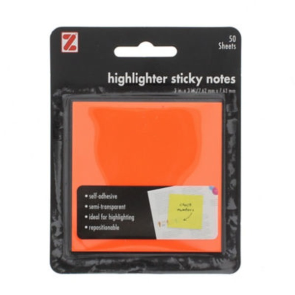 Z International Highlighter Sticky Notes