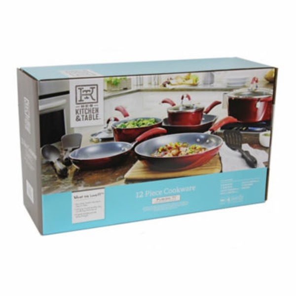 H-E-B Kitchen & Table 12 Piece Cookware Set, Red
