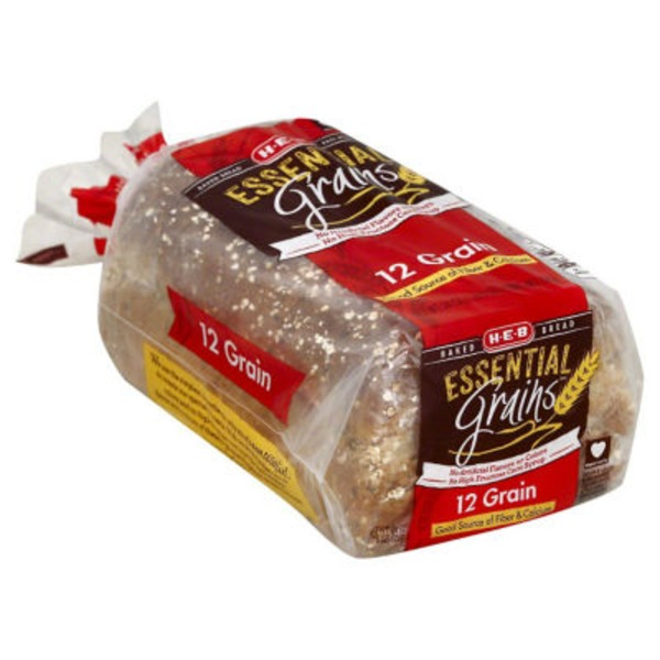 H-E-B Essential Grains 12 Grain Bread