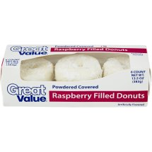 Great Value Raspberry Filled Powdered Donuts 15 Oz