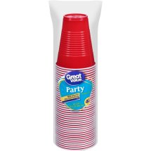 Great Value Party Plastic Cups, 9 Oz, 40 Count