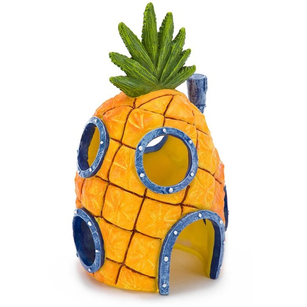 Penn-Plax Sponge Bob Squarepants Pineapple House With Swim Holes Aquatic Ornament 4